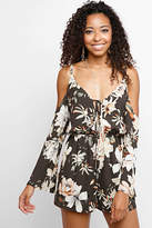 Sugar Lips Off-Shoulder Floral Romper
