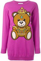 Moschino bear intarsia jumper - women - Cotton - XS