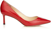 Jimmy Choo ROMY 60 Red Patent Pointy Toe Pumps