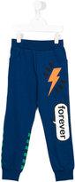 Fendi print trousers - kids - Cotton - 8 yrs