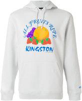 Stussy graphic print hooded sweatshirt