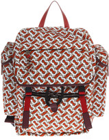 Burberry Nylon & Leather Monogram Medium Backpack