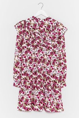 Nasty Gal Womens Star of the Grow Floral Mini Dress - White
