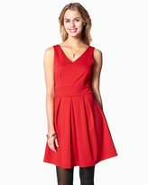Charming charlie Pleated Bow Fit & Flare Dress
