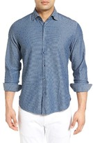 Stone Rose Men's Washed Jacquard Sport Shirt