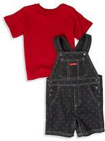 Calvin Klein Baby Boys Cotton Overall and Tee Set