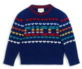 Gucci Little Girl's & Girl's Intarsia-Knit Wool & Cashmere Sweater