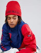 Tommy Jeans 90's Capsule Reversible Beanie In Red/Navy