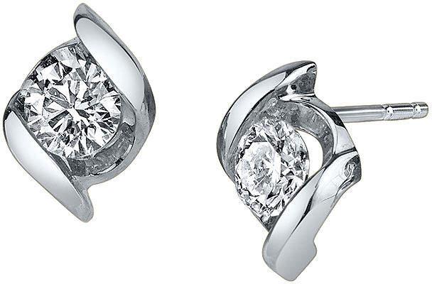 Sirena 1/2 CT. T.W. Round Diamond 14K White Gold Earrings