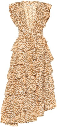 Ulla Johnson Viola cheetah-print midi dress