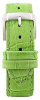 Speidel Leather with Alligator Pattern Replacement Watchband Fits 16mm - Green