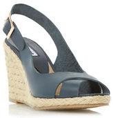 Dune London Kia Leather Espadrille Wedge Sandals