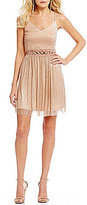 I.N. San Francisco Glitter Accented Popover Dress
