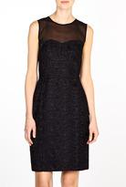DKNY Sleeveless Mixed Media Dress