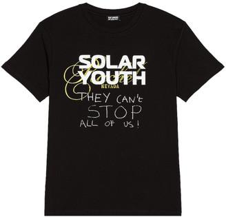 Raf Simons Solar Youth Tee in Black | FWRD