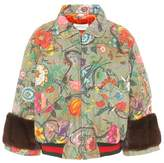 Gucci Mink-trimmed cotton jacket