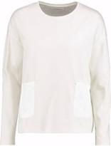 Chinti and Parker Cutout embroidered cotton-jersey sweatshirt