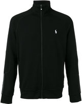 Polo Ralph Lauren logo embroidered zipped sweatshirt - men - Polyester/Spandex/Elastane/Viscose - S