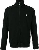 Polo Ralph Lauren logo embroidered zipped sweatshirt - men - Viscose/Polyester/Spandex/Elastane - S