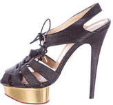 Charlotte Olympia Woven Platform Sandals