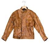 Belstaff Boys' Leather Biker Jacket