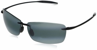 Maui Jim Sunglasses | Lighthouse 423-0215 | Gloss Black Sport Frame Frame Polarized Neutral Grey Lenses with Patented PolarizedPlus2 Lens Technology