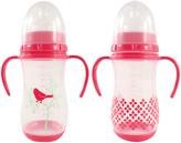 Luvable Friends Pink 9-Oz. Training Bottle - Set of Two