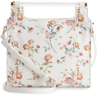 Lauren Conrad Floral Dowel Tote Bag