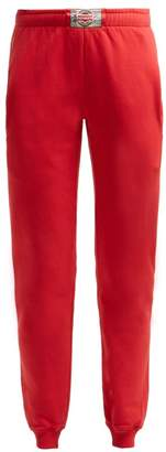 Vetements Boxer Tag Cotton Track Pants - Womens - Red