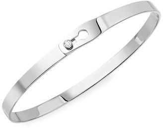 Dinh Van Serrure Ruban 18K White Gold & Diamond Bangle Bracelet