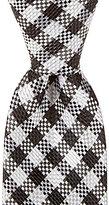 Daniel Cremieux Checker Gingham Narrow Silk Tie
