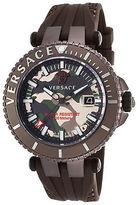 Versace VAK060016 Men's V-Race Brown Silicone Camo Dial