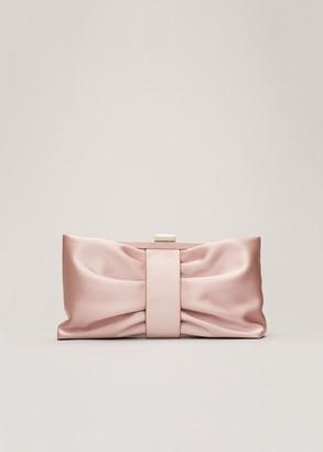 Phase Eight Meaghan Satin Bow Clutch Bag