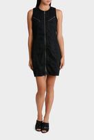 Calvin Klein Jeans Waxed Moto Bodycon Dress