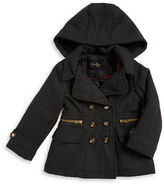 Jessica Simpson Girls 7-16 Sherpa-Trimmed Double-Breasted Coat