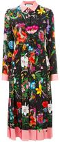 Gucci Flora snake print silk dress - women - Silk - 46