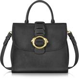 Roberto Cavalli Black Leather Tote Bag