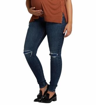 Silver Jeans Co. Women's Suki Curvy Fit Maternity Skinny Jeans