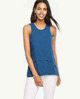Ann Taylor Layered Mixed Media Tank