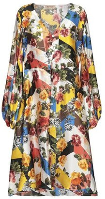 Black Coral Knee-length dress