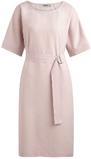 Zenggi Rose Japanese Crepe Loose Dress - l