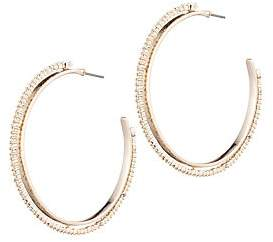 Alexis Bittar Women's 10K Yellow Gold, Rhodium-Plated & Crystal-Spiked Hoop Earrings