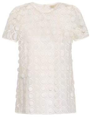 MICHAEL Michael Kors Embroidered Tulle Top