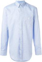 Emporio Armani embroidered logo shirt - men - Cotton - 39