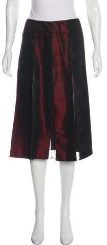 DKNY Pleated Knee-Length Skirt
