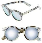 Illesteva Women's 'Leonard Ii' 50Mm Round Mirrored Sunglasses - Black/ Green
