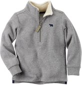 Carter's Half Zip Sweater (Toddler/Kid) - Heather - 7