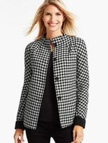 Talbots Houndstooth Double-Face Swing Jacket