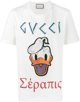Gucci Donald Duck embroidered t-shirt - men - Cotton - XS