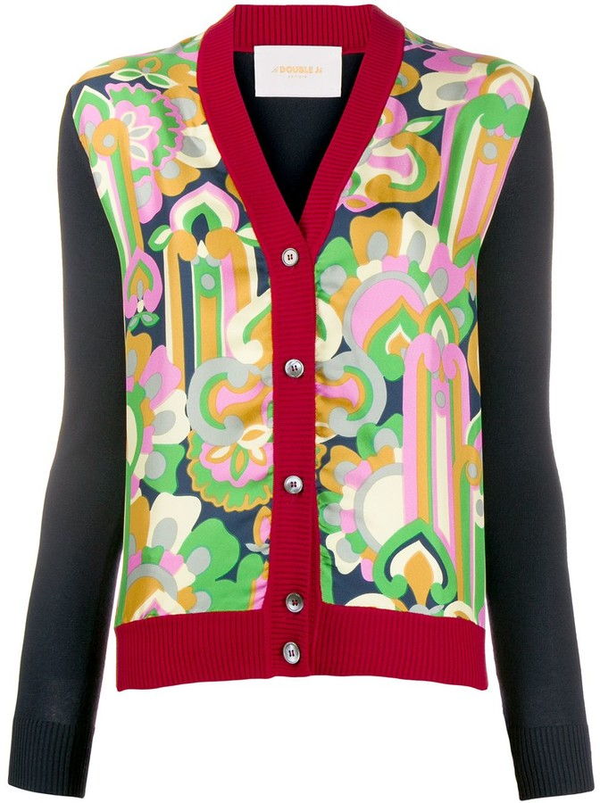 Thumbnail for your product : La DoubleJ Gemini panelled cardigan